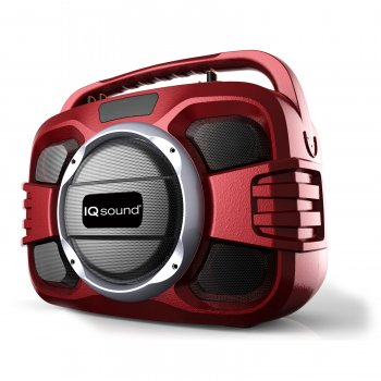Supersonic Wireless Portable Audio System-RED