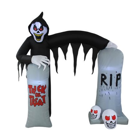 The Holiday Aisle Halloween Reaper and Tombstone Archway Inflatable - Tombstone Quotes Halloween