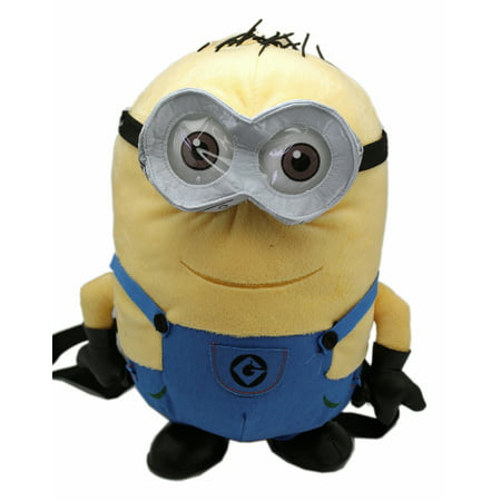 Despicable Me 2 Bob The Minion Plush Backpack 13in