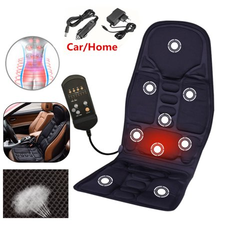 8 Mode 3 Intensity Car/Home Therapy Electric Heating Vibrating Full Body Massager Mat Mattress Horizo n Vertical Adjustable Pad, Relieve Neck Back Waist Legs Pain (Massage Mattress)