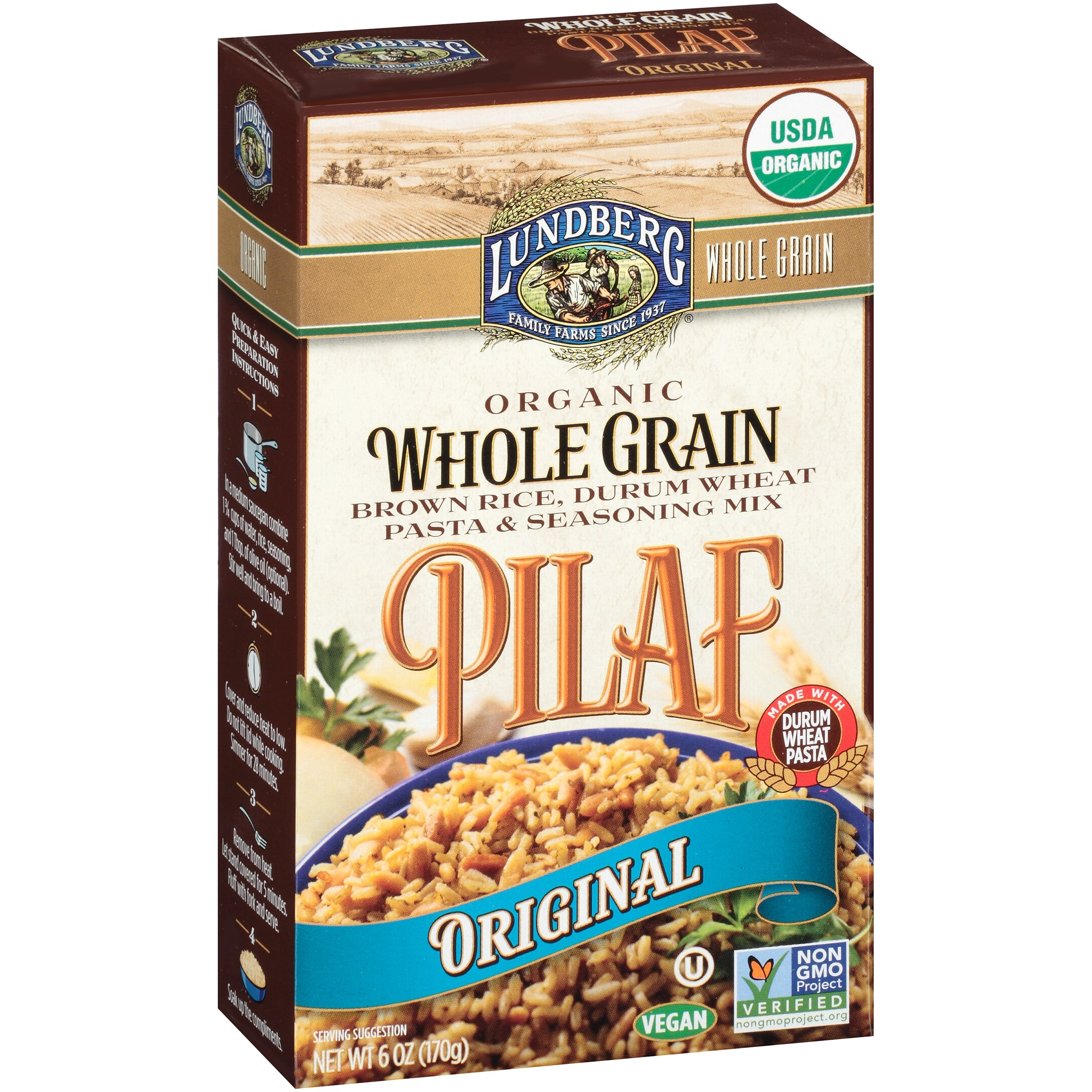 Lundberg Family Farms® Organic Whole Grain Original Pilaf 6 oz. Box