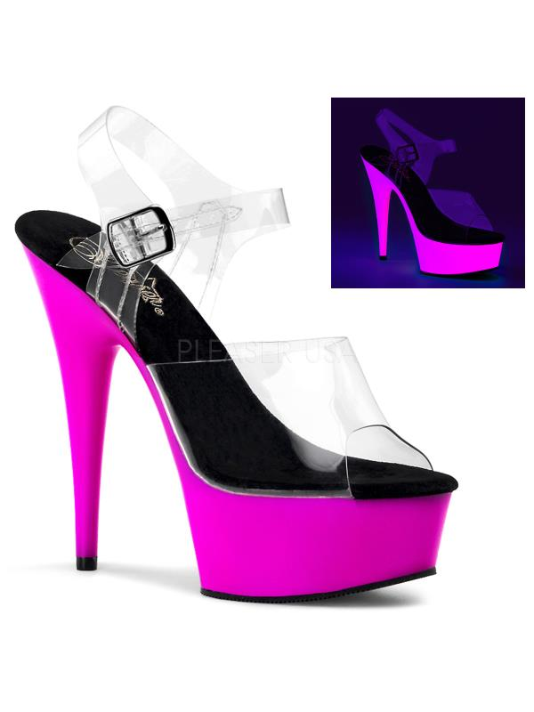 DEL608UV/C/NPP Pleaser Platforms Exotic Dancing Specialty Shoes Size:9