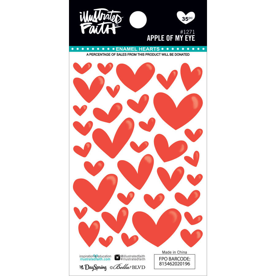 Illustrated Faith Basics Enamel Heart Stickers