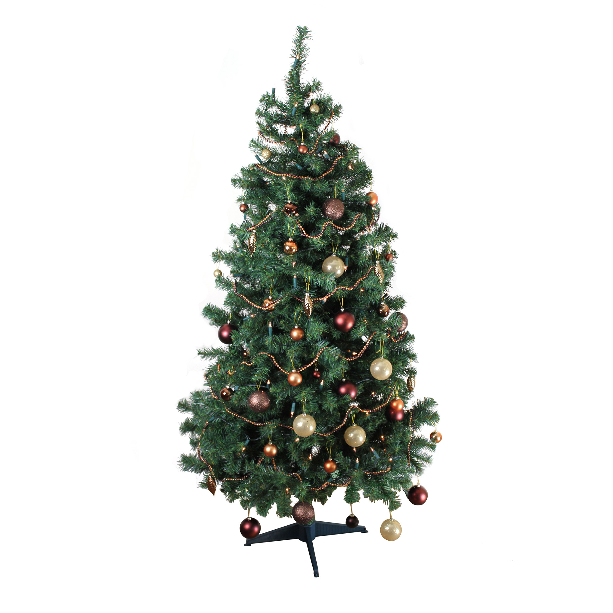Www.walmart Christmas Trees Part - 42: Homegear Alpine Deluxe 6ft Artificial Green Christmas Xmas Tree - Walmart .com