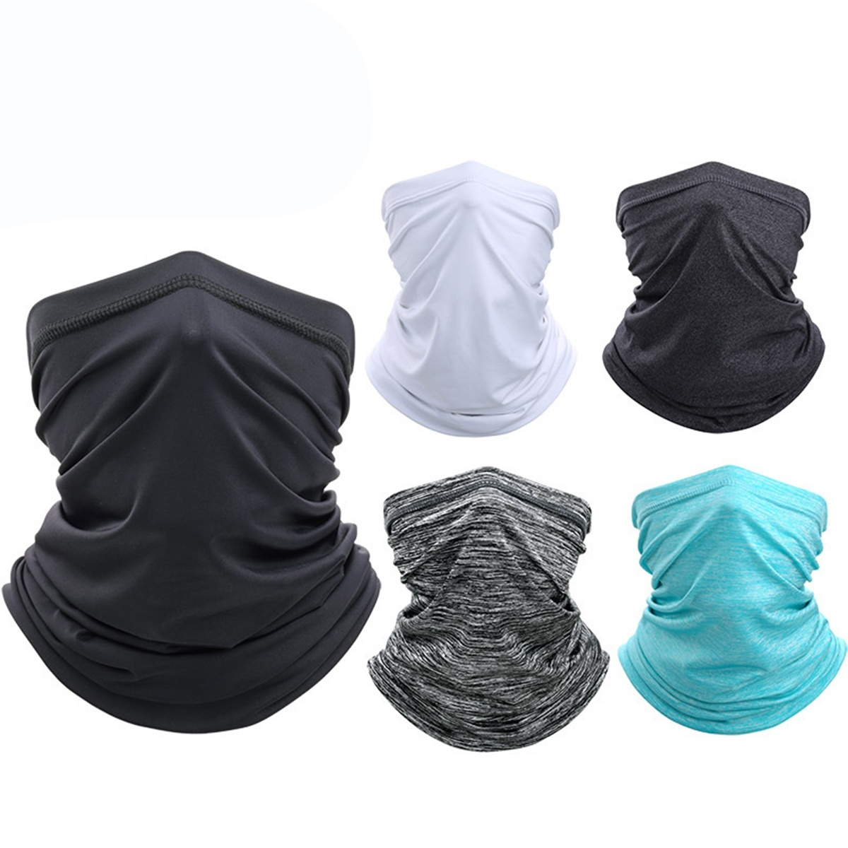 Unisex Neck Gaiter Sport Cycling Bandanas Dustproof Face Cover Scarf with Filter