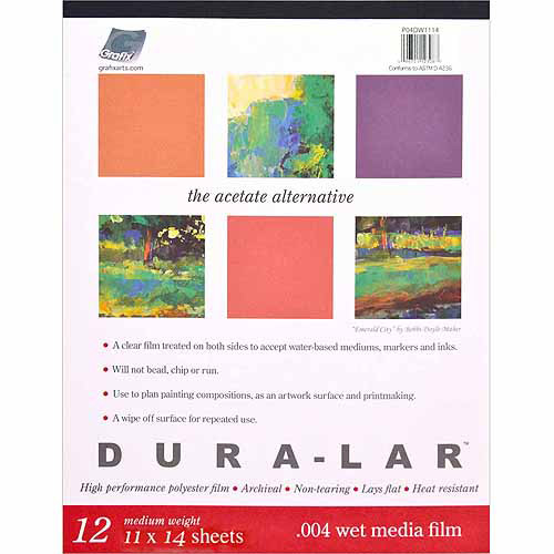 "Dura-Lar 11"" x 14"" Wet Media Film Pad, 12 Sheets"