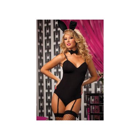 Seven 'til Midnight Bunny Love Costume Set 9674P Black