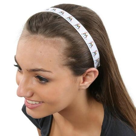Miami Marlins Women's Spirit Headband - No Size (Team Spirit Band)