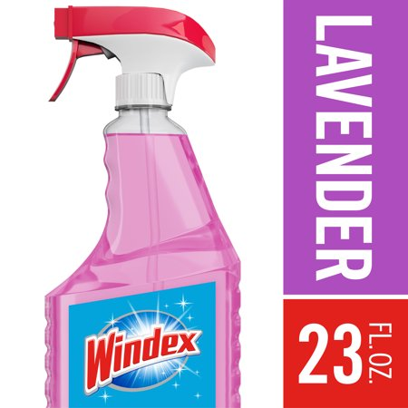 (2 Pack) Windex Multi-Surface Cleaner Trigger Bottle, Lavender, 23 fl oz