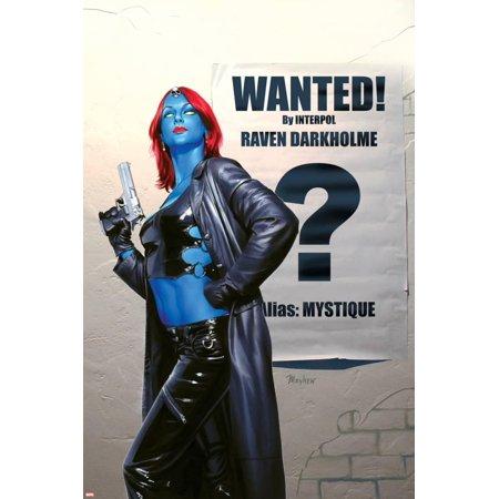 Mystique No.24 Cover: Mystique Poster Wall (Red Mystique Art)