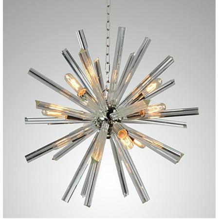 9 Light Sputnik Chandelier in Polished Nickel Finish (Classic Polished Nickel Chandelier)