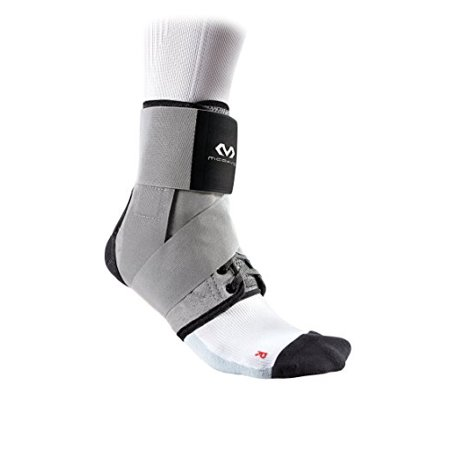 McDavid MD195 Ankle Brace w/Straps, Adult XS, GREY