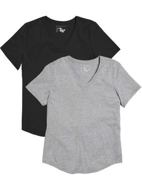 d2ce9ccd0c26 Product Image Women's Plus Size Short Sleeve V-neck T-shirt Value Pack (2-