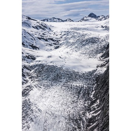Aerial view of Whiteout Glacier in the Chugach Mountains near Anchorage Chugach State Park Alaska United States of America Poster Print by Harry M Walker  Design - Great American Park Aerial