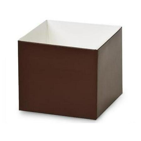 """1 Unit 4x4x3.5"""" Matte Chocolate Box Bases Unit pack 25"""