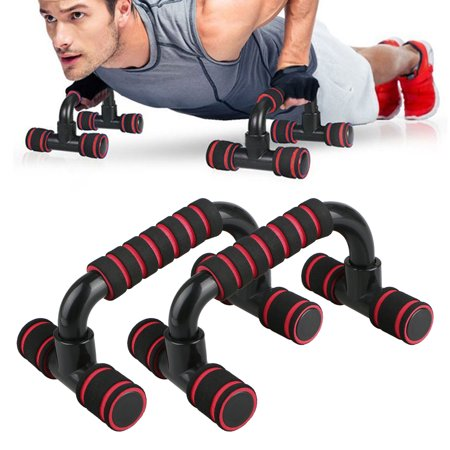 TSV Perfect Push Up Bars Inclined - Pushup Stands Handles Fitness Equipment for Push-Up Exercise Home Workout Push Up Bars Stand Handle Fat Burning & Full Body Training for Chest & Arms