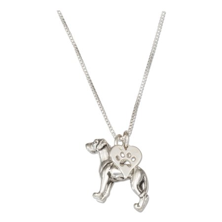 Sterling Silver Dog Pendant - STERLING SILVER 18