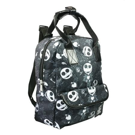 "Disney Nightmare Before Christmas Jack Skellington Allover Print 12"" Small School Backpack-Black…"
