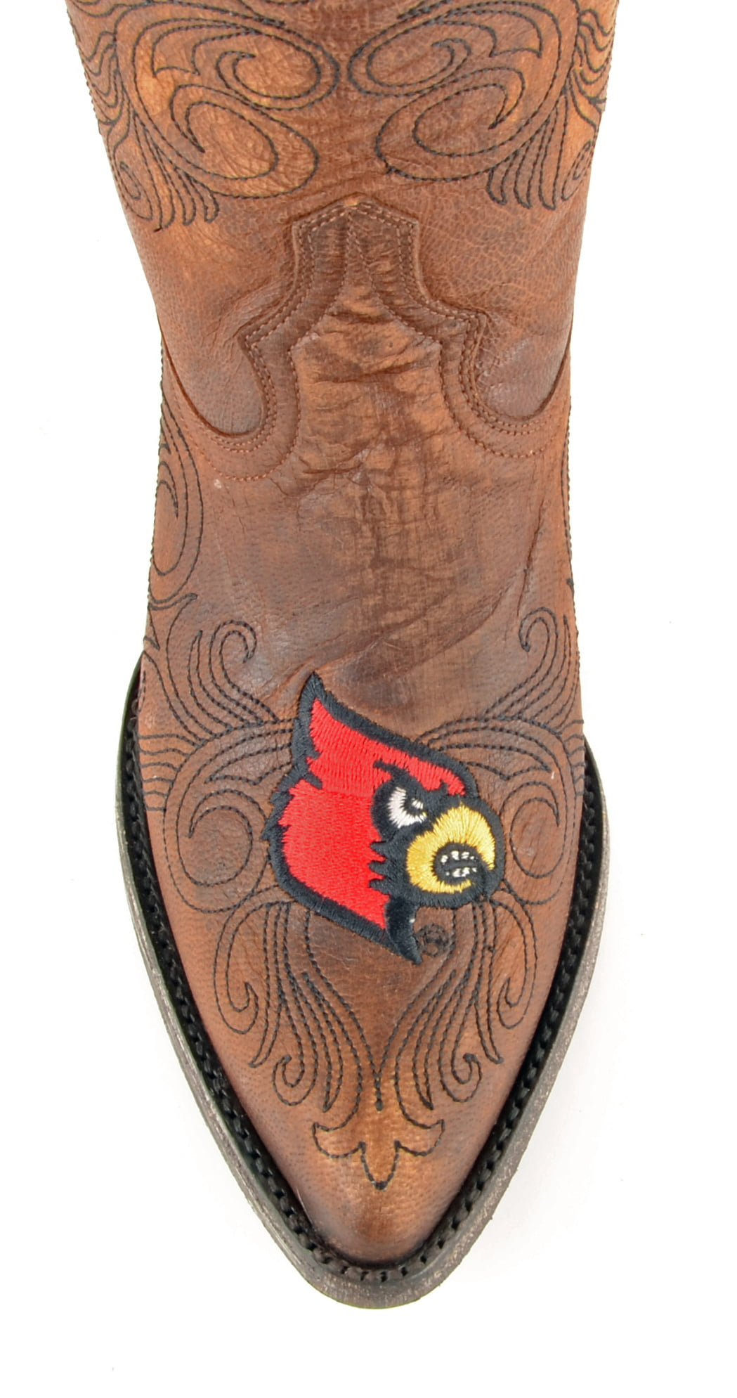 "Gameday Womens 13"" Leather University Of Louisville Cowboy Boots"
