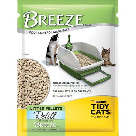 Breeze Litter System Cat Pellet Refills 3 5 Lb Bags  Pack Of 6  Litter Pellet Refill  Usa  Brand Purina Tidy Cats