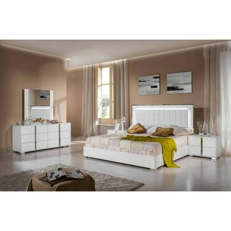 VIG FURNITURE INC Modrest San Marino Modern White Bedroom Set ...