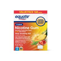 Equate Coated Nicotine Gum, Fruit Flavor, 2 mg, 160 count