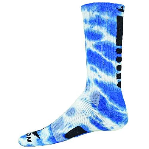 Red Lion Maxim Tie Dye Athletic Socks Neon Blue // White - Small