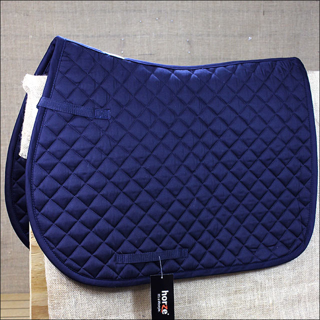 HORZE PRICE-Z ALL PURPOSE HORSE POLYSTER COTTON SADDLE PAD FULL SIZE DARK BLUE by HORZE
