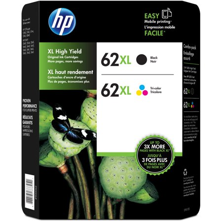 Ink Cartridge Combo Pack - HP 62XL High Yield Ink Cartridge Combo Pack Assorted