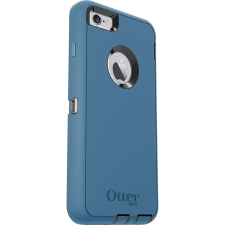 buy online 0ac10 6c00f OtterBox Defender Case for iPhone 6s/6 PLUS (No Clip) - Black/Water Deep  Blue