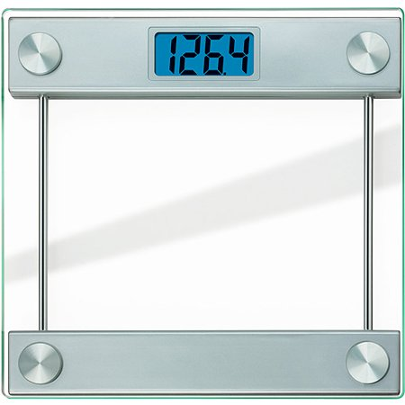 Taylor 7519 Ultra-Thick Digital Glass Bathroom Scale with Backlit LCD Display Digital Washdown Bench Scale