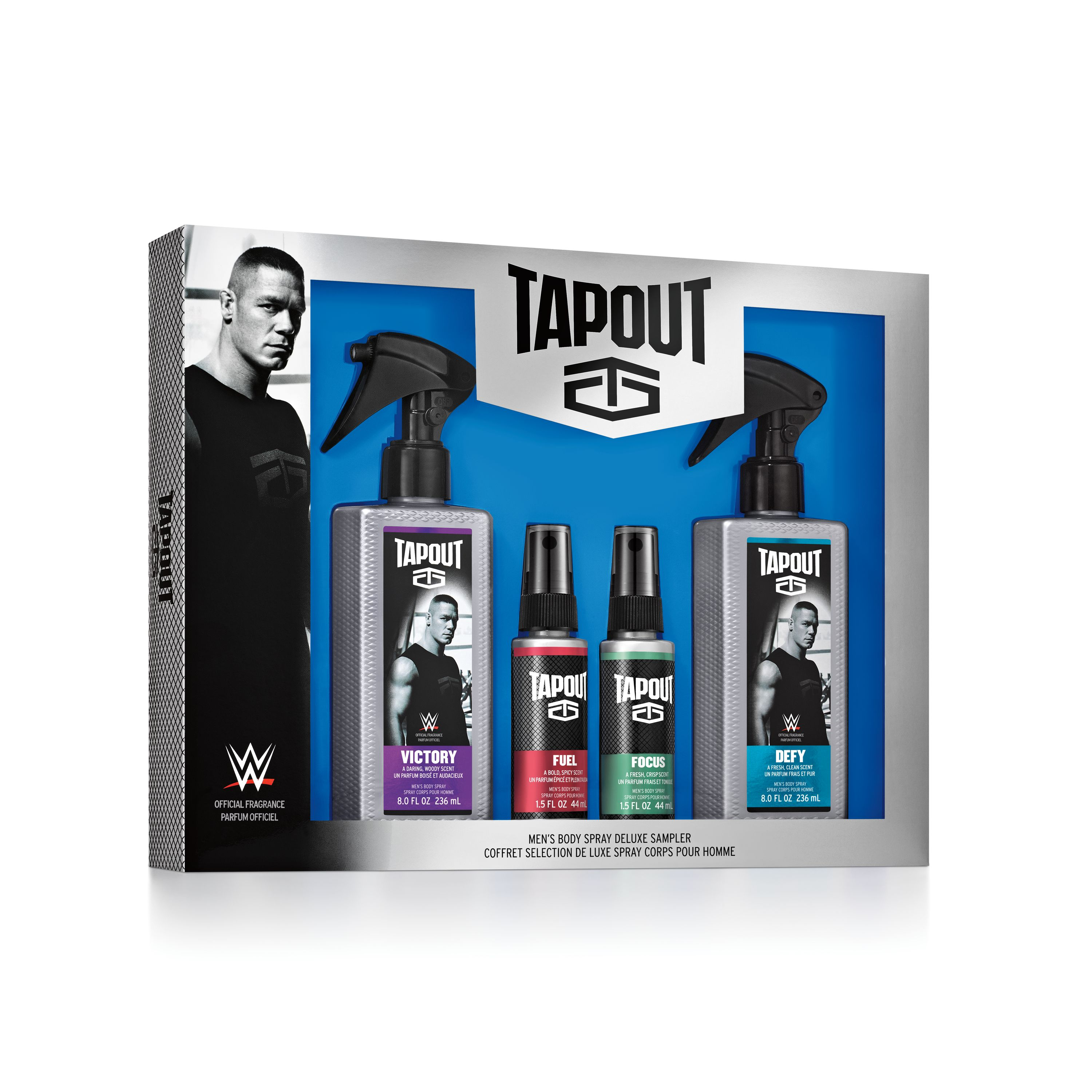 Tapout Fragrance Body Spray Collection for Men, 4 pc