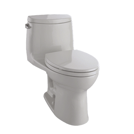 TOTO® UltraMax® II One-Piece Elongated 1.28 GPF Universal Height Toilet with CeFiONtect™, Sedona Beige - (Carusoe Two Piece Toilet)
