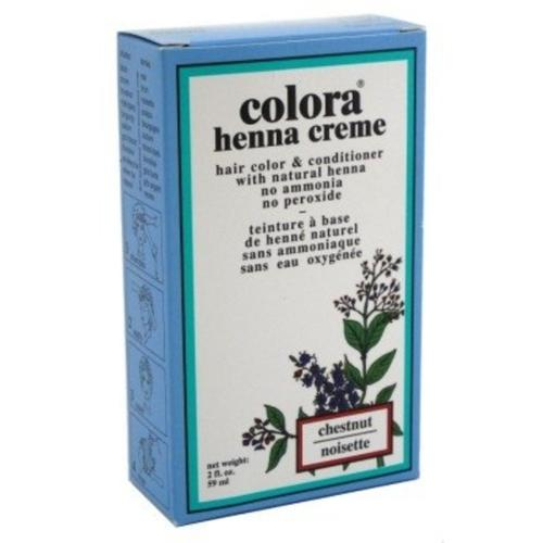 Colora Henna Creme Hair Color Chestnut, 2 oz (Pack of 2)
