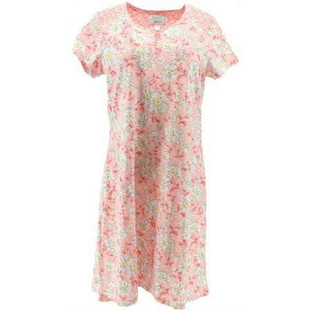 Carole Hochman Daisy Ditsy Twin Cotton 2Pc Sleepshirt A286838 Top Cotton Knit Loungewear