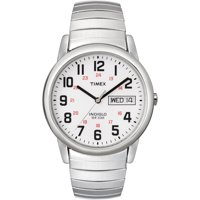 Timex Men's Easy Reader Day-Date 35mm Stainless Steel Expansion Band Watches