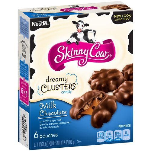 Skinny Cow Milk Chocolate Dreamy Clusters Candy, 1 oz, 6 count