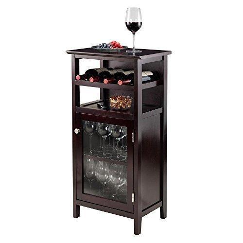 Alta Espresso Wine Cabinet by Overstock