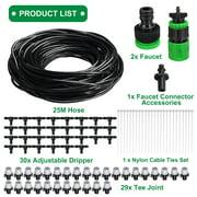 82 Feet DIY Micro Drip Irrigation System Plant Self Watering Garden Hose Kit