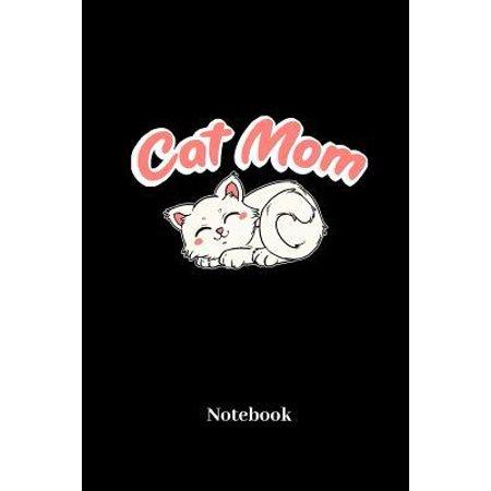 Cat Mom Notebook : Liniertes Notizbuch für Katzen Mama, Kätzchen, Mieze und Miezekatzen Fans - Notizheft Klatte für Männer, Frauen und Kinder (Frauen Schwarz Cat Eye Sonnenbrille)