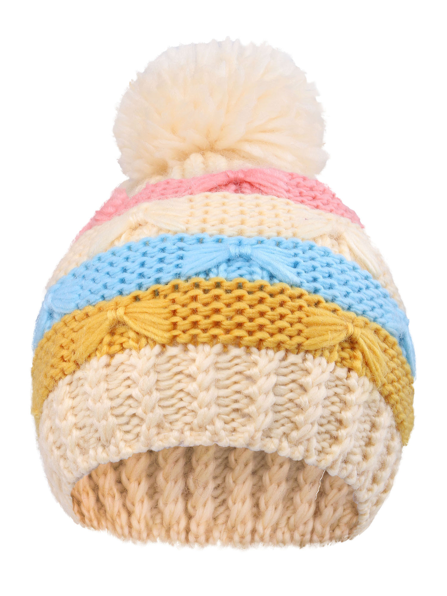cb0bc82c64d BASILICA - Arctic Paw Toddlers Super Chunky Striped Knit Beanie with ...