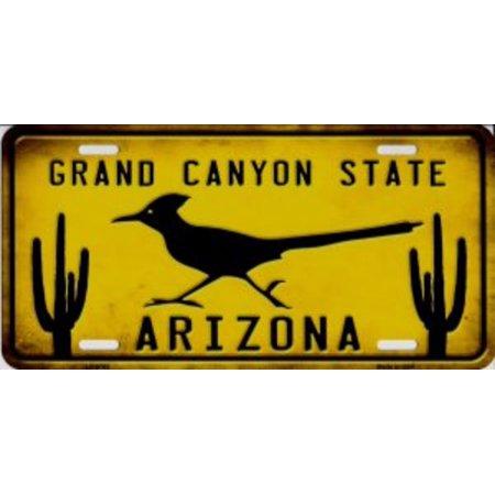 - Arizona Grand Canyon State Roadrunner Metal License Plate