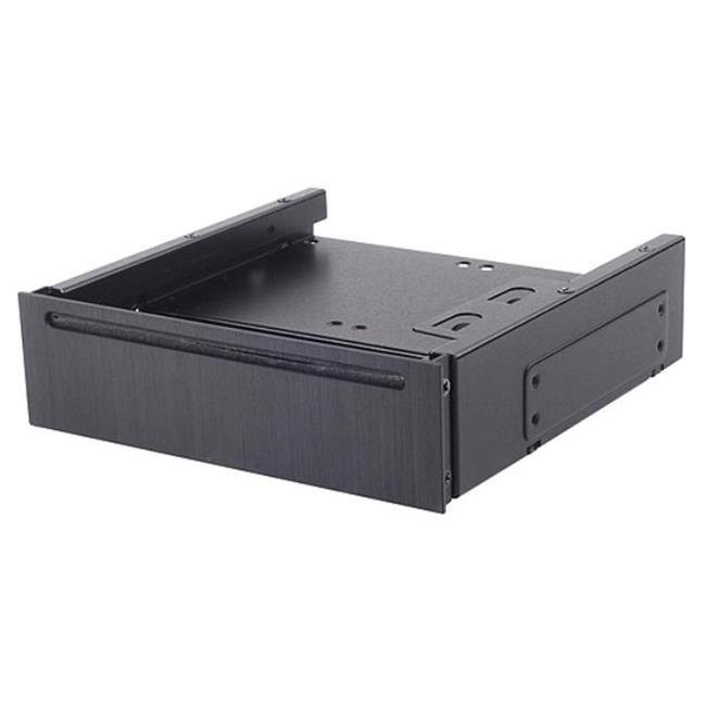 Silverstone Technology FP58B 5.25 in. Aluminum Cover Bay for Slot-Load Slim Odd Drive and Four 2.5 in. Hdd-Ssd - Black - image 1 de 1