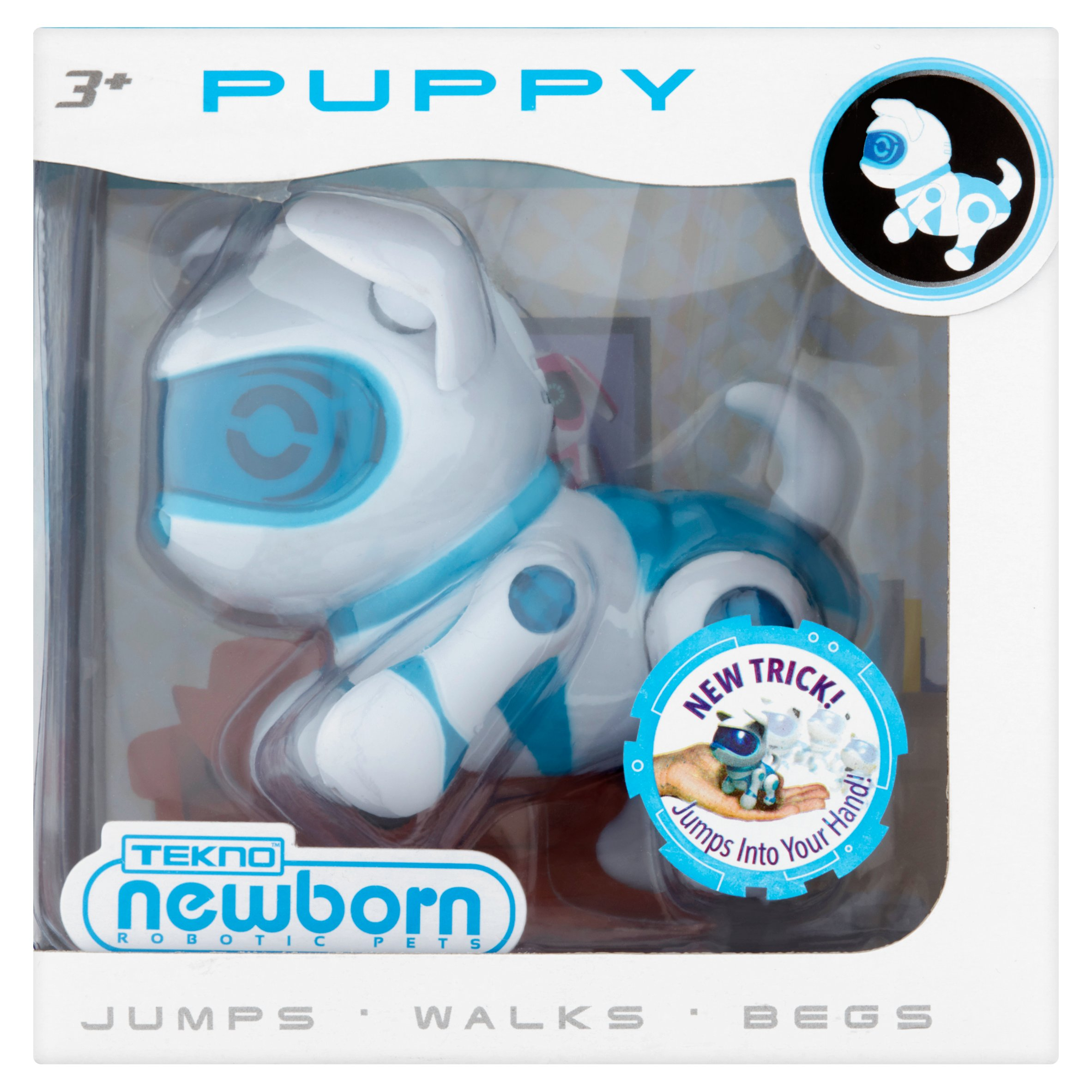 Tekno Robotic Pets, Newborn Puppy, Blue by Genesis™