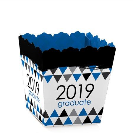 Blue Grad - Best is Yet to Come - Party Mini Favor Boxes - Royal Blue 2019 Graduation Party Treat Candy Boxes - Set