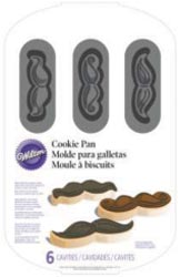 Bulk Buy: Wilton (3-Pack) Cookie Pan Mustache 6 Cavity W2698 by Wilton Industries, Inc.