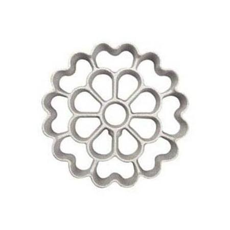 Rosette Iron (Rosette-Iron Mold, Floral Shape Cast Aluminum )