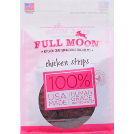 Full Moon All Natural Human Grade Dog Treats, Chicken Strips, 12 Ounce (Is This Halloween A Full Moon)