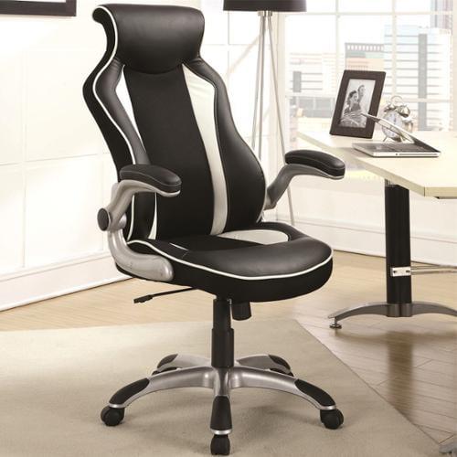 Racer Design Black/ White Ergonomic Gaming Office Chair