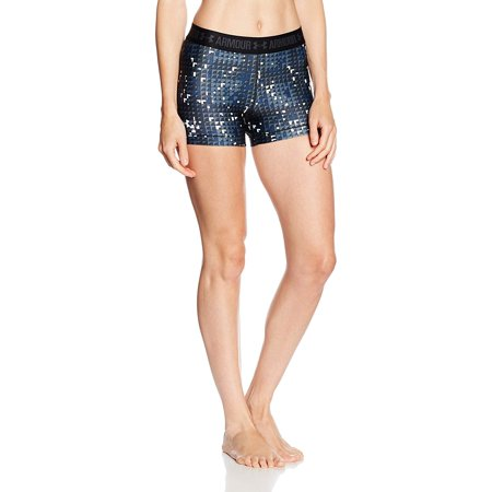 Under Armour Women's HeatGear Armour Printed Shorty, Black (009)/White, Small